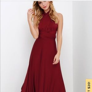Lulus bridemaid dress - burgundy